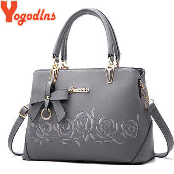 Yogodlns Women Bag Vintage Handbag Casual Tote Fashion Women Messenger Bags Shoulder Top-Handle Purse Wallet Leather 2019 New - DISCOUNT ITEM  68% OFF All Category
