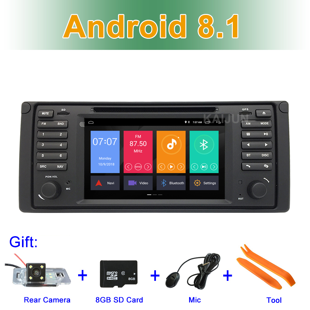 Android 8.1 DVD de Voiture Lecteur Multimédia pour BMW E39 Avec BT Wifi Radio Stéréo GPS de Navigation