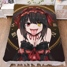 Japanese Anime Date A Live Nightmare Tokisaki Kurumi Bed sheet Throw Blanket Bedding Coverlet Flat Bedsheet Cosplay Gifts