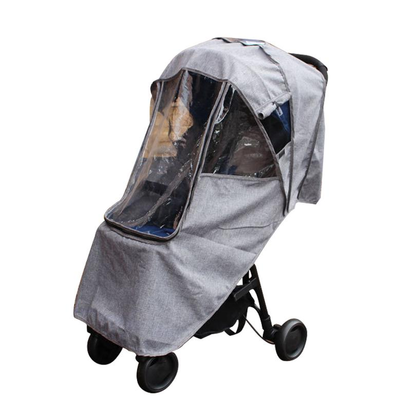 Baby Stroller Raincoat Cover Trolley Umbrella Car Rain Cover Baby Stroller Windshield Stroller Accessories Trolley Accessories