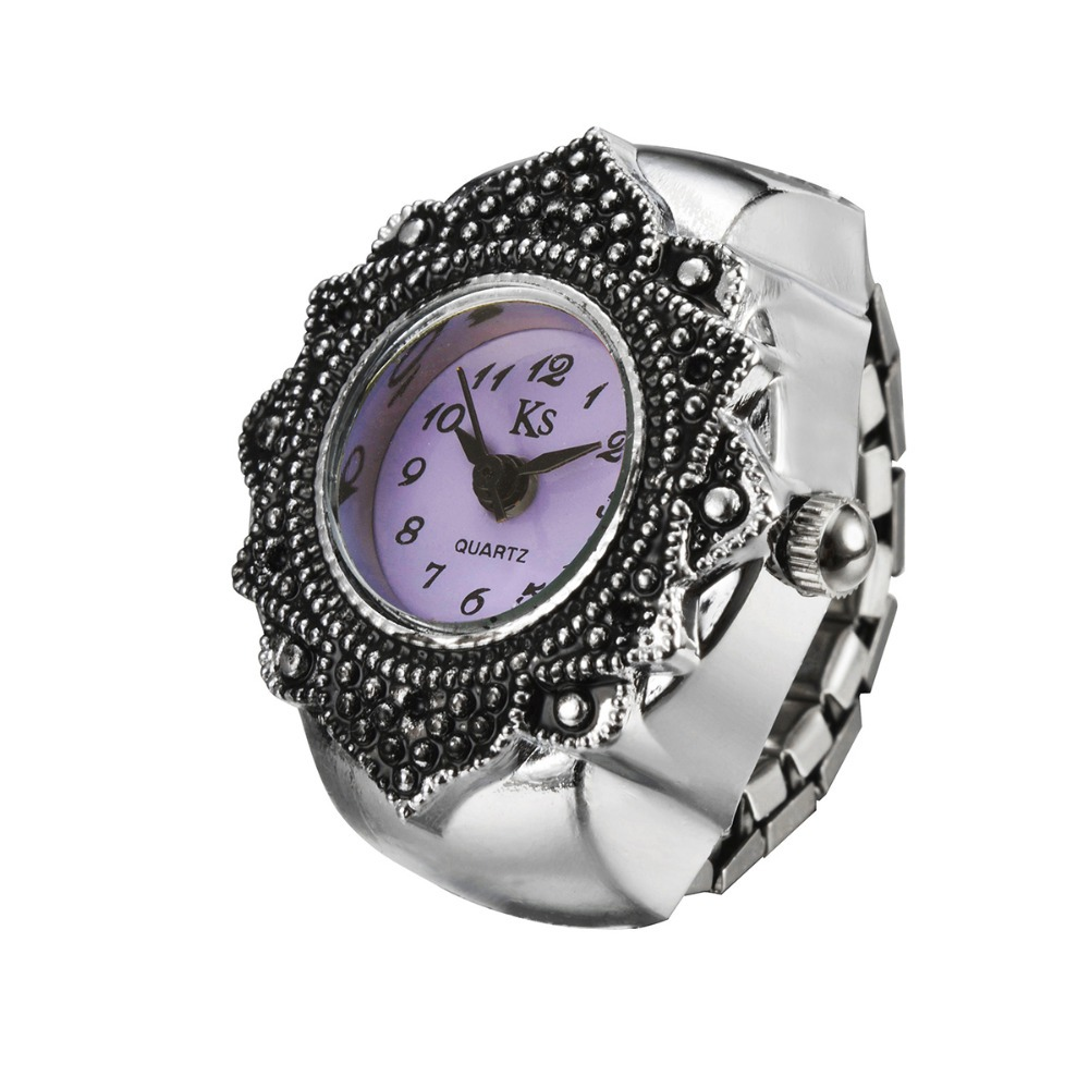 Low price Best Gift for Women Finger Ring Watch high quality girl lady clock hour Flower Rings Watch WH332 zeus watch