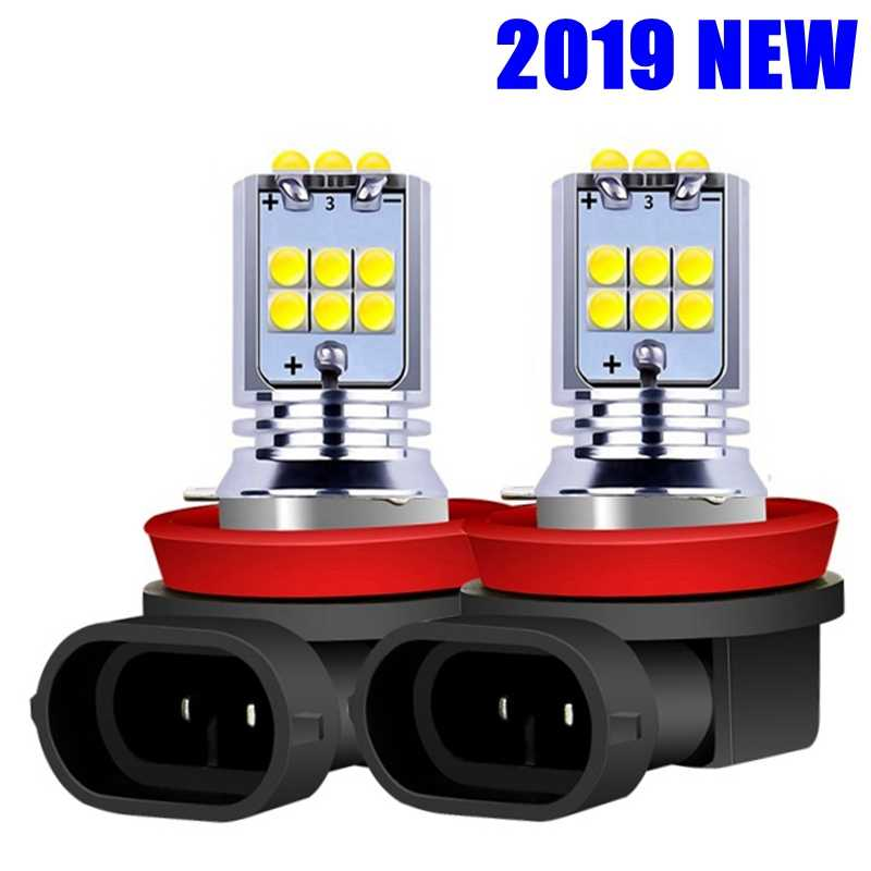 2PCS H8 H11 H10 H16 PSX24W 9006 HB4 9005 HB3 PY24W P13W 1800LM CREE Chip LED Bulbs Car Anti Fog Light Auto FogLamp White Yellow