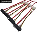 Mini SAS 4i SFF-8087 36P To 4 SAS 29Pin  Sff 8482 Red cable 100cm