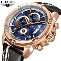 LIGE мужские часы лучший бренд класса люкс часы для мужчин Военная Униформа пояса из натуральной кожи спортивные часы водонепроница