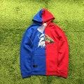 Xclusive!! off white X medianoche estudios sweatershirtt rojo y azul costura hiphop hombres de Las Mujeres hoodies otoño VIRGIL ABLOH