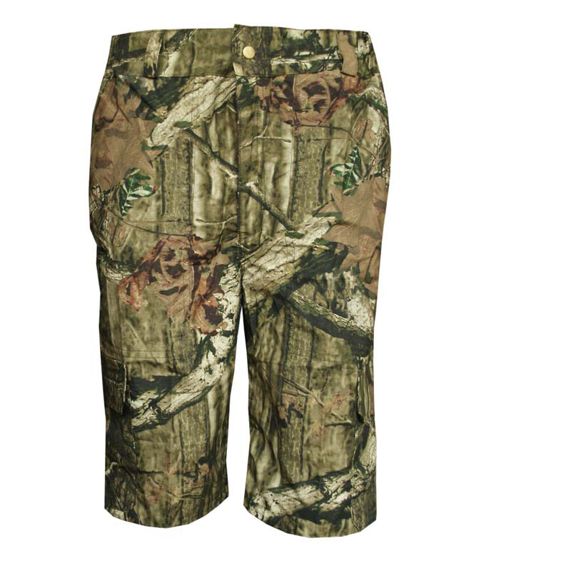 Summer Army Fan Loose Bionic Camouflage Shorts Men's Hunting Shorts Cotton Thin Breathable Casual Fishing Hiking Camping Shorts