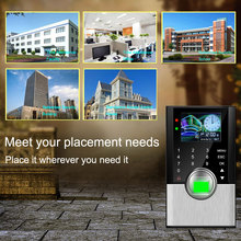 Biometric Fingerprint Time Attendance System TCPIP Fingerprint RFID Door Access Control System Card Time Clock Employee Machine цена