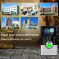 Sistema Do Comparecimento Do Tempo RFID TCPIP Fingerprint Biométrico de impressões digitais Porta Sistema de Controle de Acesso Máquina de Cartão de Tempo da impressão digital Relógio Empregado|Dispositivo de reconhecimento de impressão digital| |  -