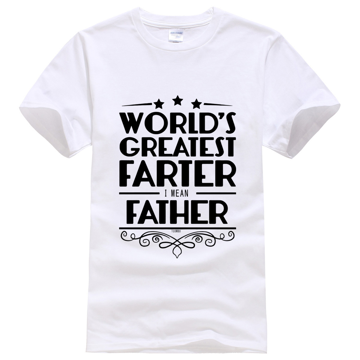 2019 summer T-shirt World's Greatest Farter Father letter funny men's T-shirts kpop sportwear crossfit brand free shipping tops