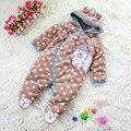 Oso Polar marrón mamelucos del bebé de invierno ropa de los niños de los cabritos del mono Footsies cuerpo Bebe desgaste del bebé ropa de bebé recién nacido