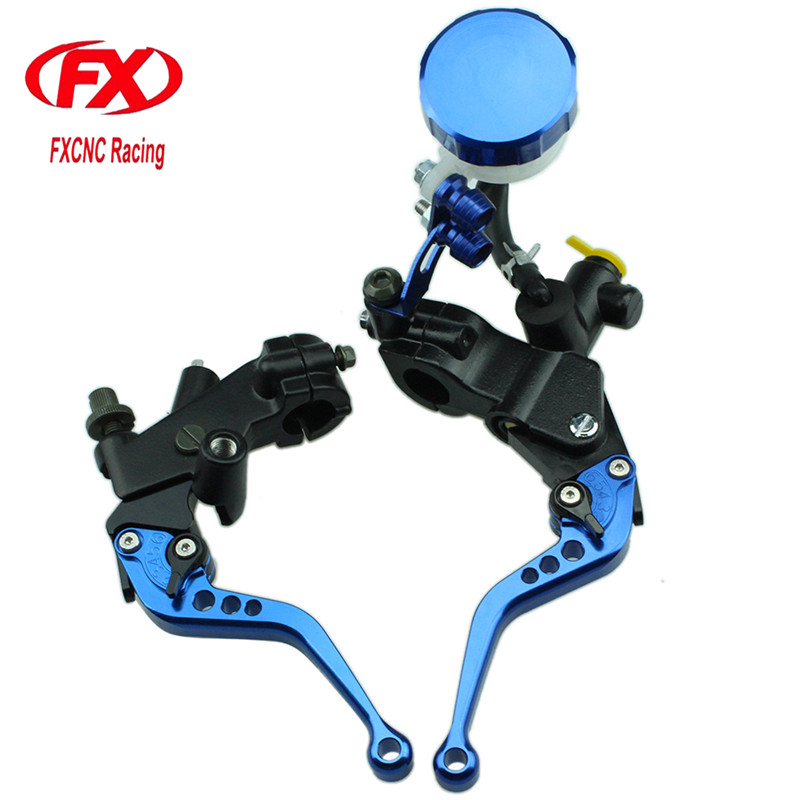 цена на FXCNC 125-600cc Motorcycle Brake Clutch Levers Master Cylinder Hydraulic Brake Cable Clutch For Yamaha MT125 2015 - 2016