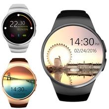 Новый Kingwear KW18 Bluetooth Smart часы телефон полный Экран Поддержка sim-карта TF SmartWatch сердечного ритма для Apple IOS Huawei Android