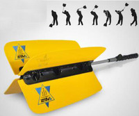 Golf Exercise Swing Bar Golf Wind Practice Fan Golf Swing Trainer Aid