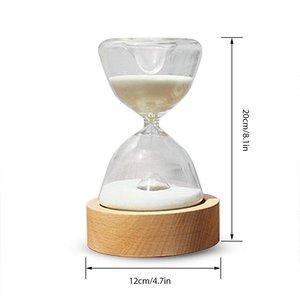 Image 3 - Reloj de arena de cristal temporizador con luces LED luz nocturna de arena ayudante de sueño con Control remoto para regalos de navidad cumpleaños decoración del hogar