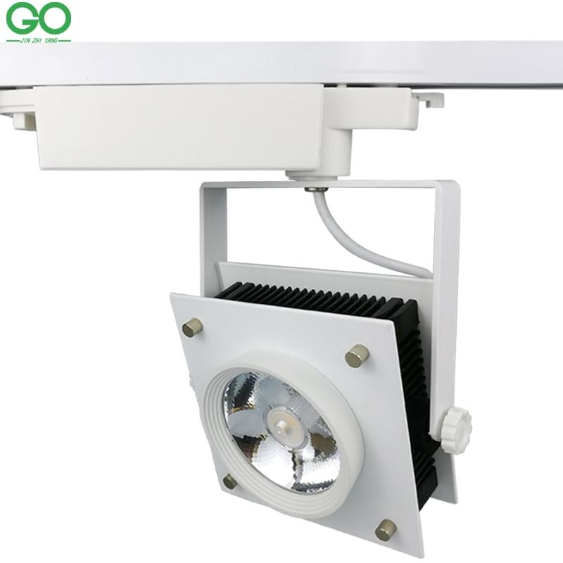 ФОТО LED Track Lights 30W COB Square Decorative kitchen rail Lights Lamps For Shoes Clothes Shop Store Track Lighting Pendants Kits