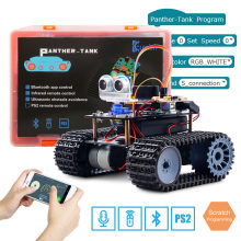 Keywish Tank Robot voor Arduino UNO R3 Smart Auto Kit APP RC Afstandsbediening Ultrasone Bluetooth Module Stem Speelgoed voor kinderen(China)