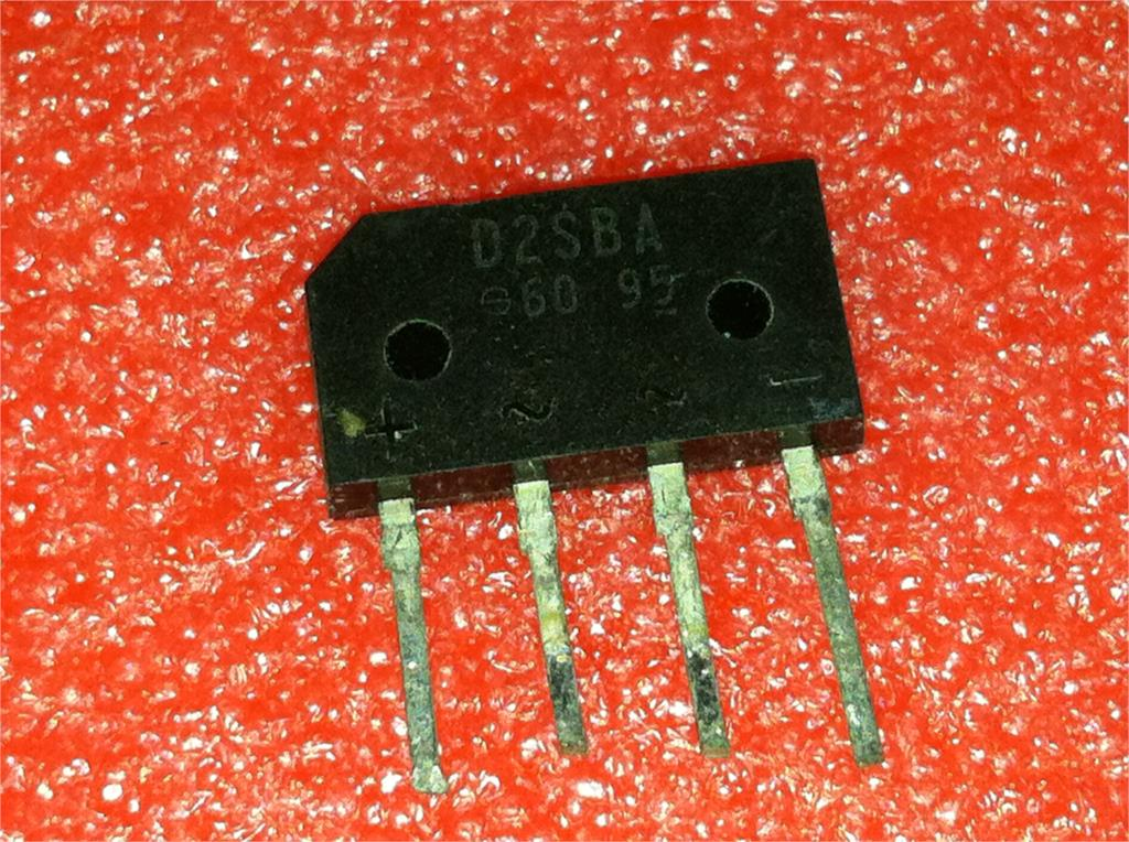 1pcs/lot D2SBA60 D2SB60 D2SBA 2A 600V ZIP-4