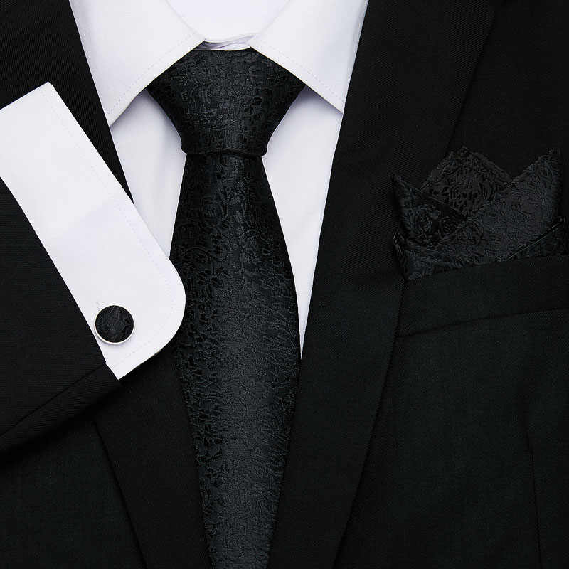 موضة جديدة تصميم التعادل مجموعة رجال الأعمال الحرير الأزهار طباعة العلاقات رجل التعادل مجموعة الأخضر الداكن ربطات العنق التعادل جيب ساحة أزرار أكمام