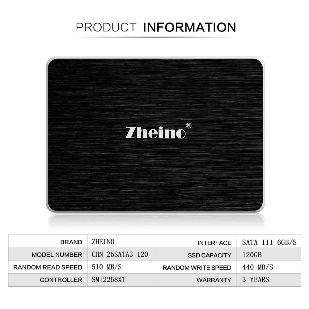 Zheino 2,5 zoll SSD SATA3 60/120 GB/240 GB/360/480 GB/960/ 128 GB/256/512 GB/1 TB 3D Nand Flash TLC 6 Gbps Interne Solid State Drives