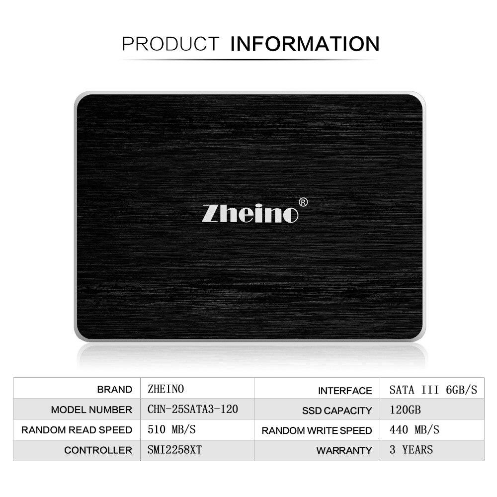 Zheino de 2,5 pulgadas SSD SATA3 60/120 GB/240 GB/360/480 GB/960/ 128 GB/256/512 GB/1 TB 3D Nand Flash TLC 6 Gbps interna unidades de estado sólido
