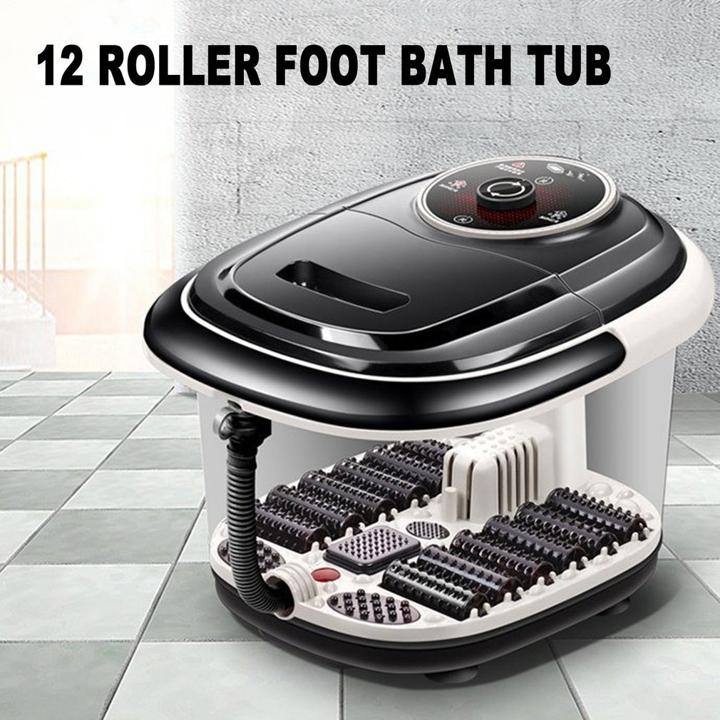 Bath & Shower Apprehensive Fully Automatic Electric Roller Feet Basin Heating Foot Tub Foot Massage Machine Foot Spa Bath Massager Us Plug New