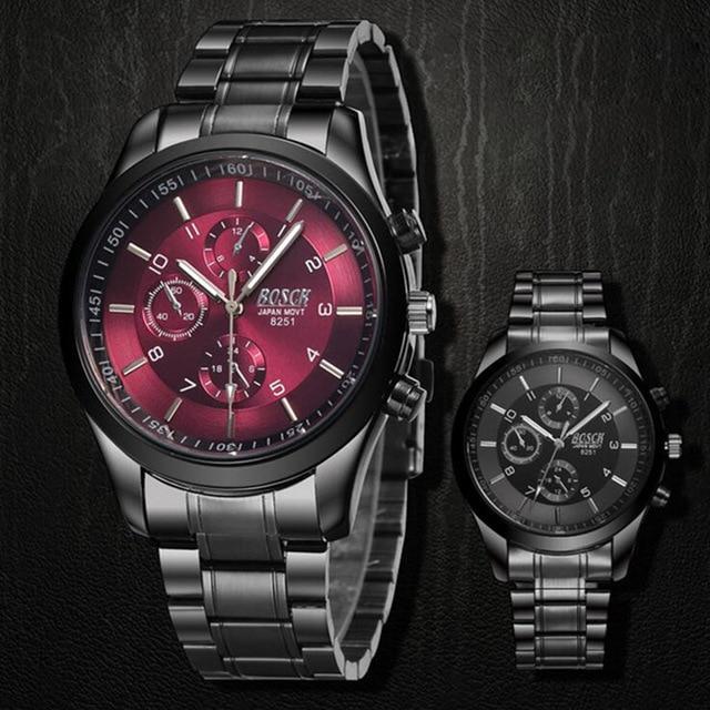 2016 Top Marca Relojes de Lujo Hombres Reloj de Cuarzo Ocasional de Los Hombres de Acero Llena de moda Masculino Deporte Impermeable reloj de Pulsera Militares