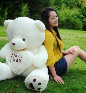 Christmas gift 100cm big size teddy bear plush toy birthday gift plush toy freeshipping