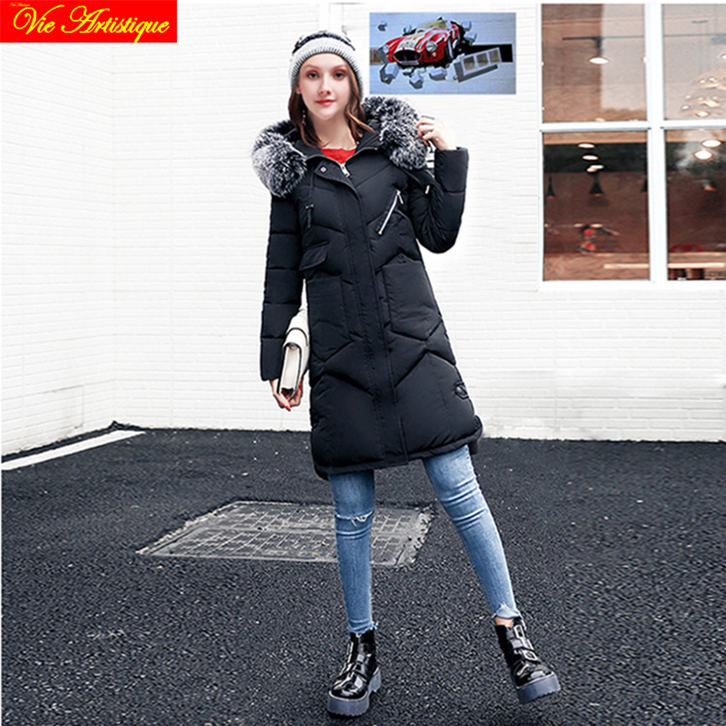 winter jacket woman parka fem me hiver female long coats jackets big size black with intimate fur hood jazzevar miegofce VA