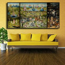 лучшая цена The Garden of Earthly Delight And Hell by Hieronymus Bosch HD Details Canvas Print Painting Art Home Decoration FREE SHIPPING