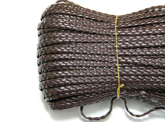 50yards of 5mm Soft Braid Faux Leather String,Braid Faux Leather Suede Cord,Leather Cord,weave Cord,jewelry findings