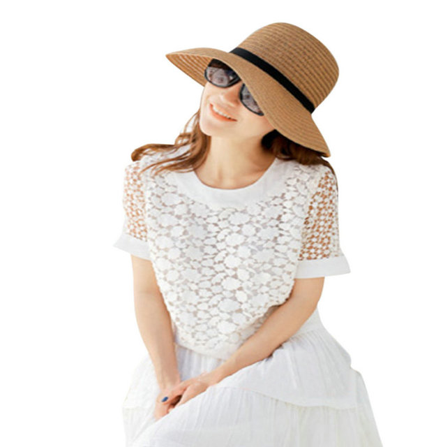 LOVIW женская Дамы Новые Sunhats Summer Beach Sun Hat Соломы Элегантный Богемия Cap Новая Мода