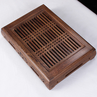 Solid Wood Tea Tray With Drawer Tea Set Drawer Type Drainage Teaberries Wood Tea Tray Wenge