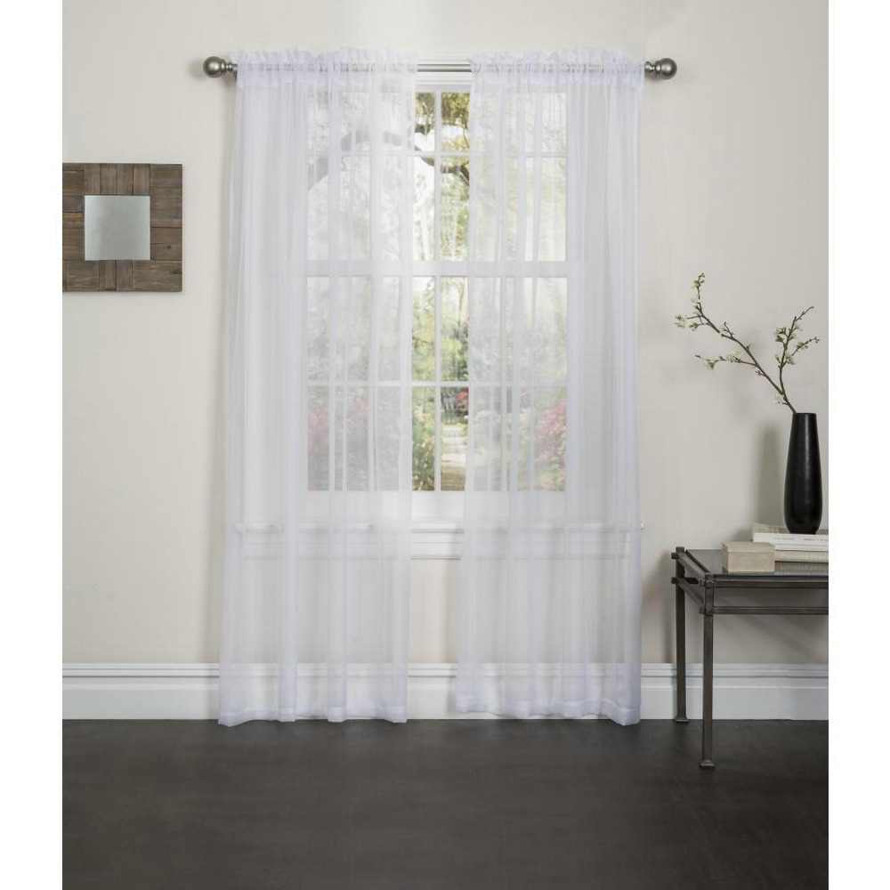 Cheap Voile Curtain Solid Window Curtain Drapes Curtains For Living Room Shee