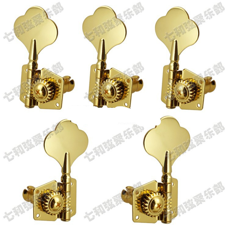 4 GOLD BASS GUITAR MACHINE HEADS  STRING TUNERS 2+2