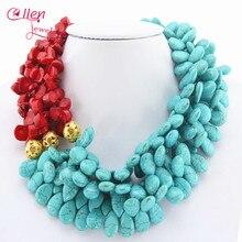 Africano Cuentas de Collar hermoso, Nigeriano Collar de Coral Rojo, Collar de la dama de Honor, Regalo de Boda, Collar Llamativo e11122