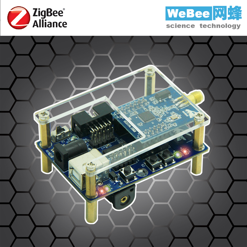 CC2530 ZigBee wireless sensor node module to study the development of intelligent networking hardware freeshipping uart to zigbee wireless module 1 6km cc2530 module with antenna