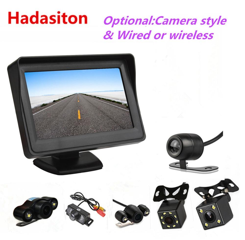 "4.3/"" Display Monitor TFT Digital LCD Color SunShade Screen Car Rearview Parking"