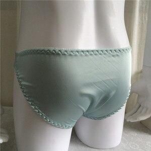 Image 4 - Hot Nieuwe smooth glossy synthetische zijde effen kleur slips heren sexy ondergoed jockstrap mannen slips ondergoed