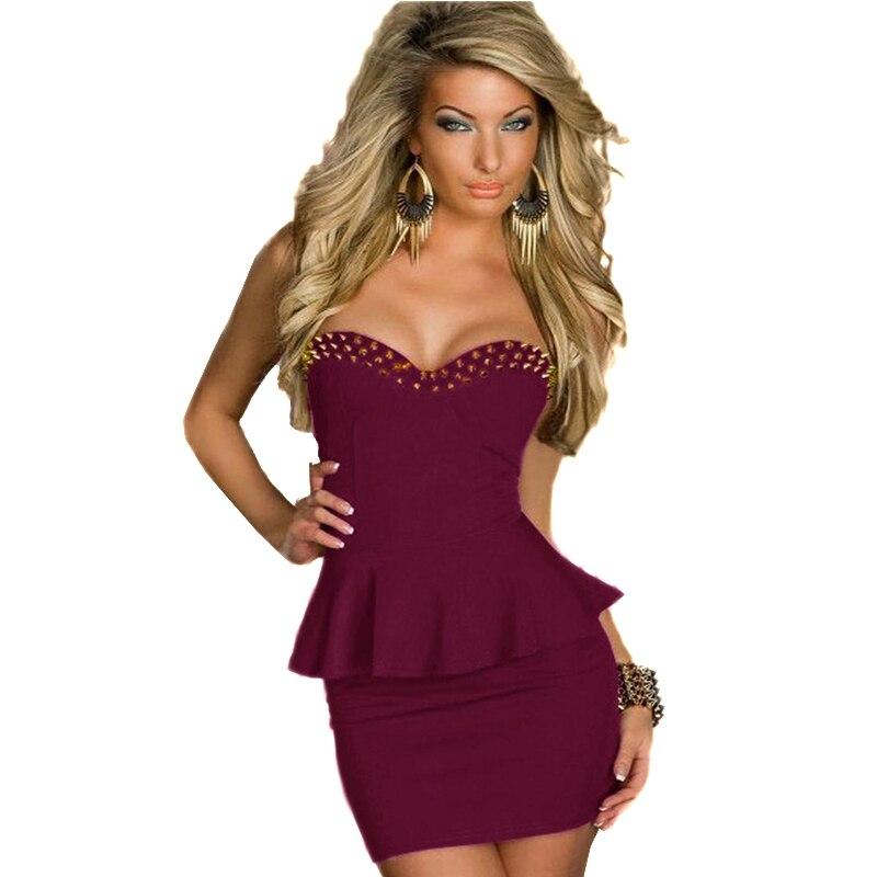 Popular Black Strapless Dress Short-Buy Cheap Black Strapless ...