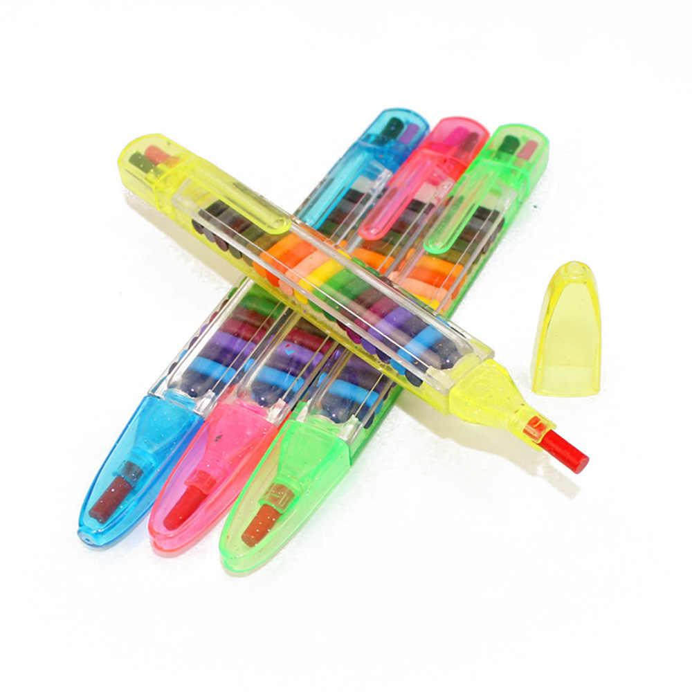1 stück 20 Farben Öl Pastelle Kinder Graffiti Stift Art Geschenk Shiny Pädagogisches Kinder Malerei Spielzeug Wachs Kreide Baby Lustige