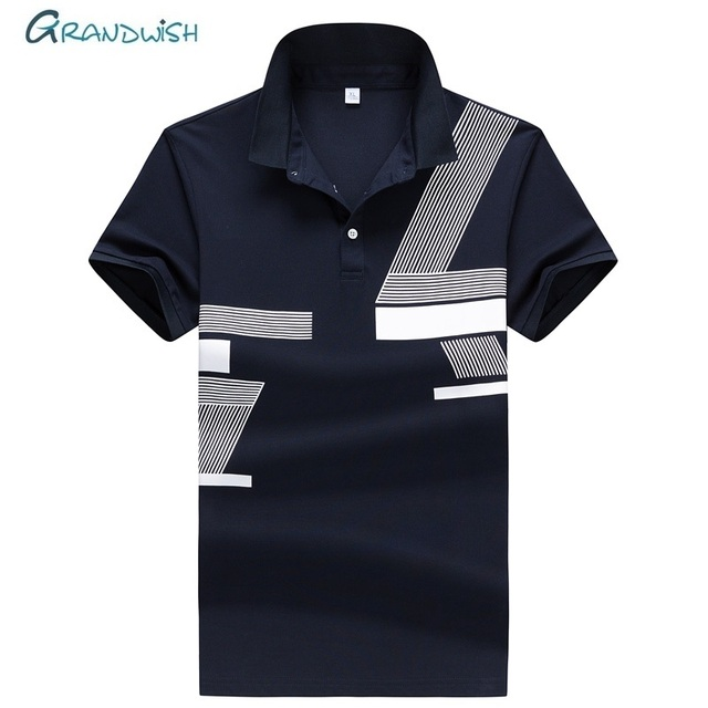 90a8d8730d95d Grandwish Men Fashion Solid Polos Mens Business Polo Shirts Short Sleeve 95%  Cotton Polos Male High Quality Tops Tees Polo