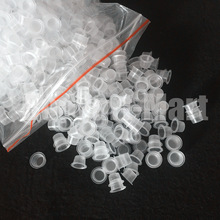 1000pcs 8mm Small Size Clear White Tattoo Ink Pigment Cups Caps Supply IC9-1000#