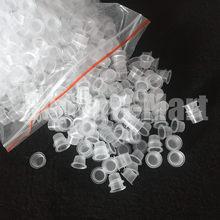 1000 pçs 8mm tamanho pequeno claro branco tatuagem tinta pigmento copos tampas de fornecimento IC9-1000 # frete grátis
