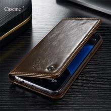 Caseme Магнитный кошелек кожаный чехол для Samsung Galaxy S4/5/6/7/S6 edge/S6 Edge Plus /S7 EDGE/Примечание 5/Note 4/A3/A7 Роскошный чехол Ми