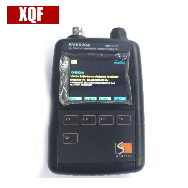 XQF Date KVE520A VHF/UHF VU Vector Impédance Antenne Analyseur + 5 pcs Adaptateurs pour Amateur JAMBON Radios Vecteur Radio KVE 520A