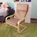 Wooden Living Room Leisure Armchair Furniture Upholstered Cushion Seat Modern Adult Large Lazy Arm Chair Wood Armchair Design