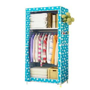 Image 3 - ตู้เสื้อผ้าแบบเรียบง่ายนักเรียนหอพักเดี่ยวตู้เสื้อผ้าตู้เสื้อผ้า Finishing ตู้เก็บเหล็กตู้เสื้อผ้า