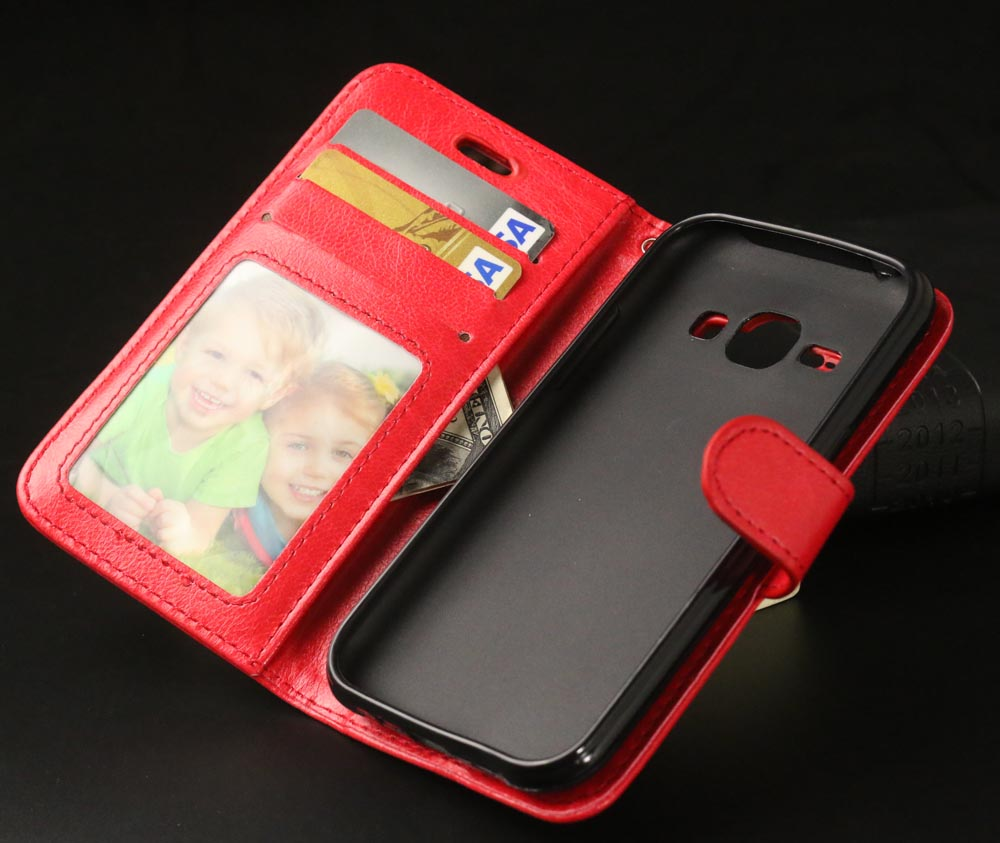 Luxury Flip Leather <font><b>Phone</b></font> Cover <font><b>Case</b></font> <font><b>For</b></font> <font><b>Samsung</b></font> <font><b>Galaxy</b></font> J1 <font><b>J100</b></font> J100F <font><b>Case</b></font> with Card Slot Stand Cover <font><b>for</b></font> <font><b>Samsung</b></font> J1 <font><b>Cases</b></font> Bag image