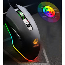 Игровая мышь красочный светильник V1 USB 3200 dpi кабель красочная подсветка светодиодный эргономичная игровая мышь для ноутбука PC 619