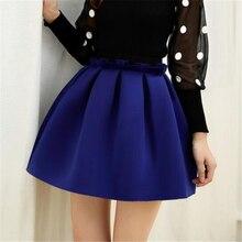 2016 New Autumn And Winter Neoprene new space cotton elastic force high waist skirts pleated skirt women tutu skirt casual